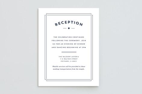 Classico Mitzvah Reception Cards