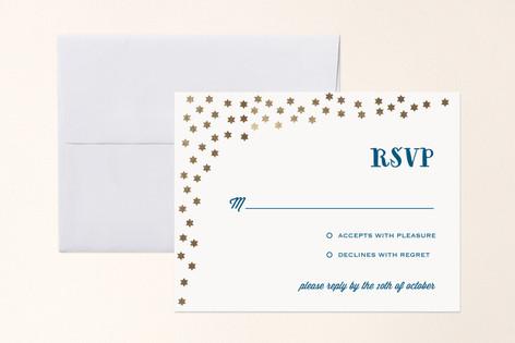 Starry Stars Foil-Pressed Mitzvah RSVP Cards