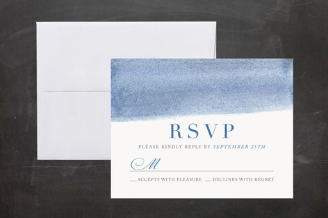 watercolor stripes Mitzvah RSVP Cards