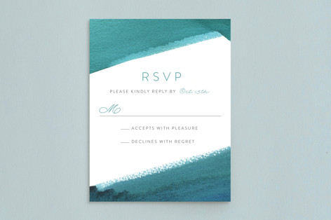 Minimal Abstract Mitzvah RSVP Cards