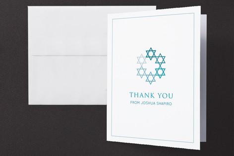 David's Stars Mitzvah Thank You Cards