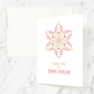Filigree Star Mitzvah Thank You Cards