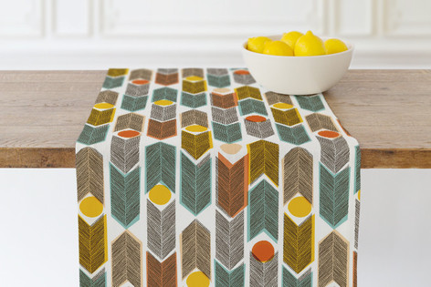Warm Plains Pattern Self Launch Table runners