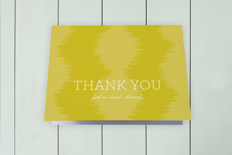 Ikat Moving Announcements Thank You Cards