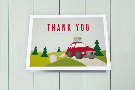 Movin' Up Town Moving Announcements Thank You Cards
