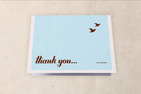 Bird Off the Wire Moving Announcements Thank You Cards