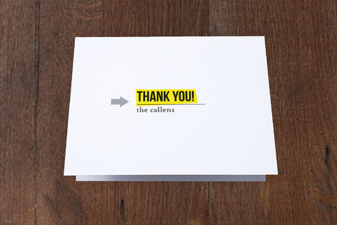 Tear Sheet Moving Announcements Thank You Cards