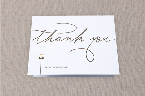 House and the Sprout Moving Announcements Thank You Cards