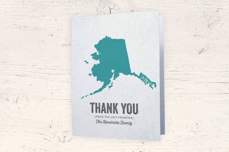 Alaska Moving Announcements Thank You Cards