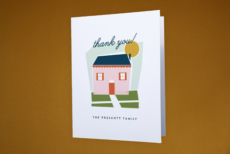 New On The Block Moving Announcements Thank You Cards