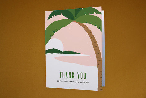 Paradise Found Moving Announcements Thank You Cards
