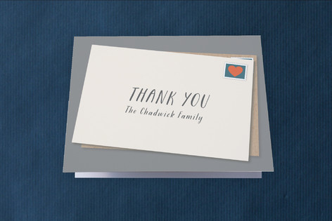 Postage Moving Announcements Thank You Cards
