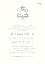 David's Stars Mitzvah Invitations