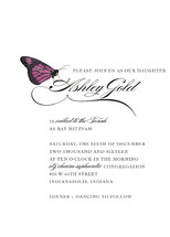 Fly, Butterfly Mitzvah Invitations
