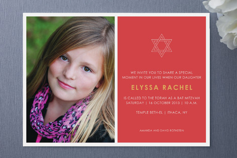 Tradition Mitzvah Invitations