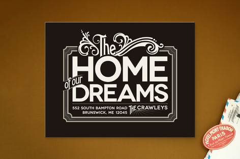 Our Dream Home Moving Announcements