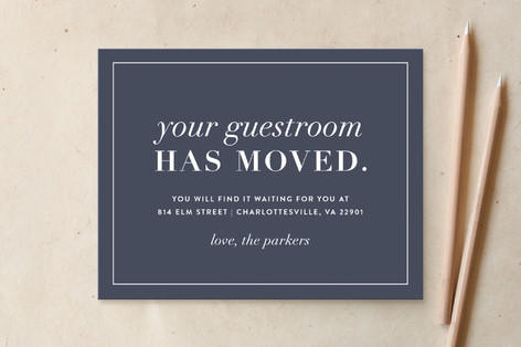 New Guestroom Moving Announcements