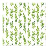 Green Watercolor Leaves... by Helga Wigandt
