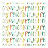 Brush Lettering Joy Peace Love Wrapping Paper