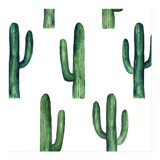 Watercolor green cactus... by Remioni