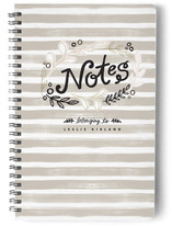 Grey Stripe Notes Journals