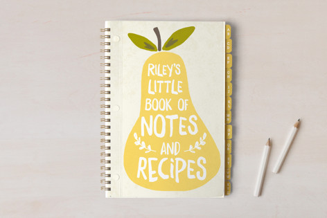 Chic pear notebook