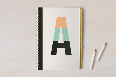 Initial Color Block Notebooks