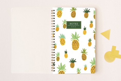 Pineapple Pattern Notes Notebooks