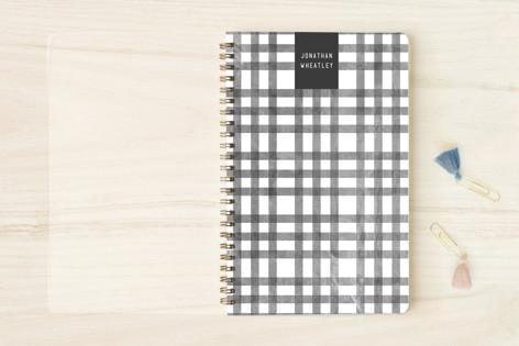 Textured Plaid Notebooks