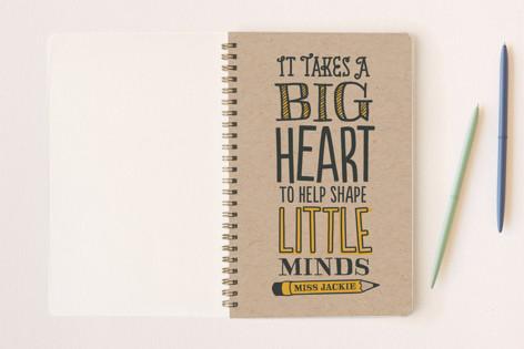 Teacher's Big Heart Notebooks