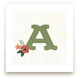 Woodsy Monogram Art Prints