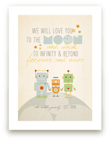 Robot Family Art Prints