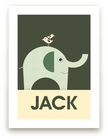 Friendly Elephant Art Prints