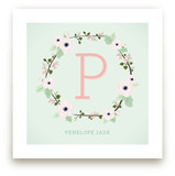 Anemone Monogram Art Prints