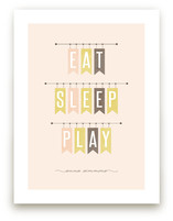 Eat Sleep Play Art Prints
