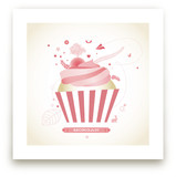 Cupcake Landscape Art Prints
