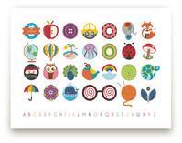 Alphabet in the Round by Lyndsay Johnson