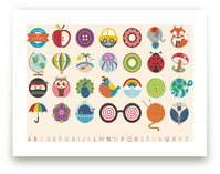Alphabet in the Round Art Prints