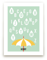 Alphabet Showers Art Prints