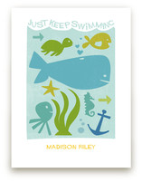 Just Keep Swimming Art Prints