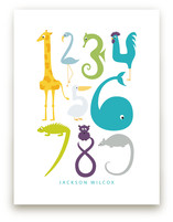 Numbered Animals Art Prints