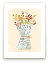 Newspaper Bouquet Art Prints