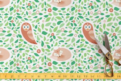 Sleepy Fox & Night Owl Fabric