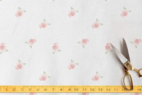 Watercolor Roses Fabric