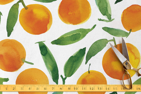 Sweet oranges Fabric