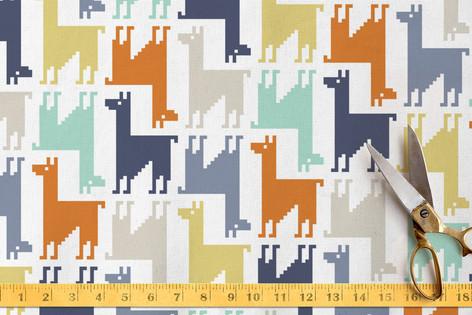 Llama-rama Fabric