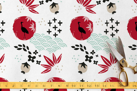 Japanese Springtime Fabric
