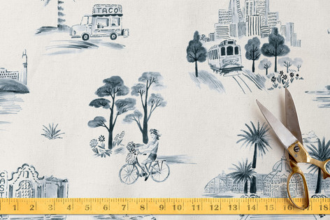 San Francisco Modern Toile Fabric