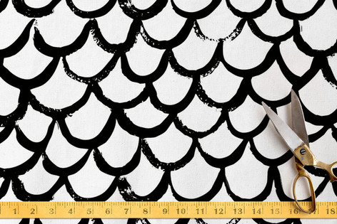 Brushed Scallops Fabric