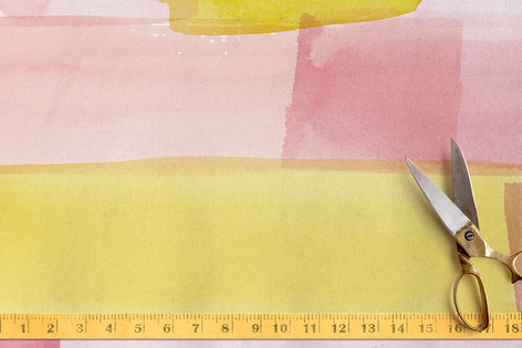 Abstract Watercolor Fabric